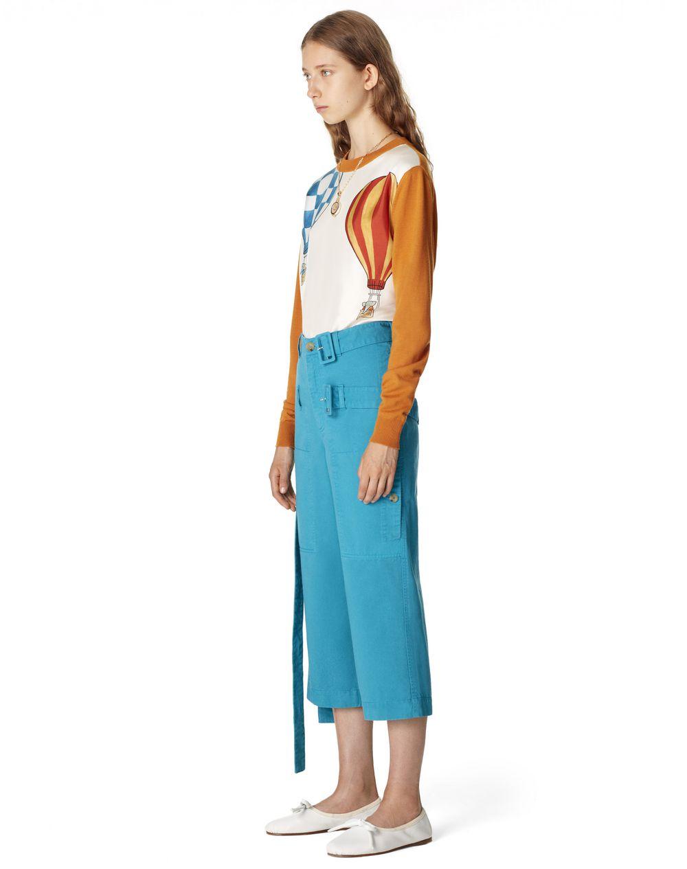 SHORT DOUBLE BELT PANTS - Lanvin
