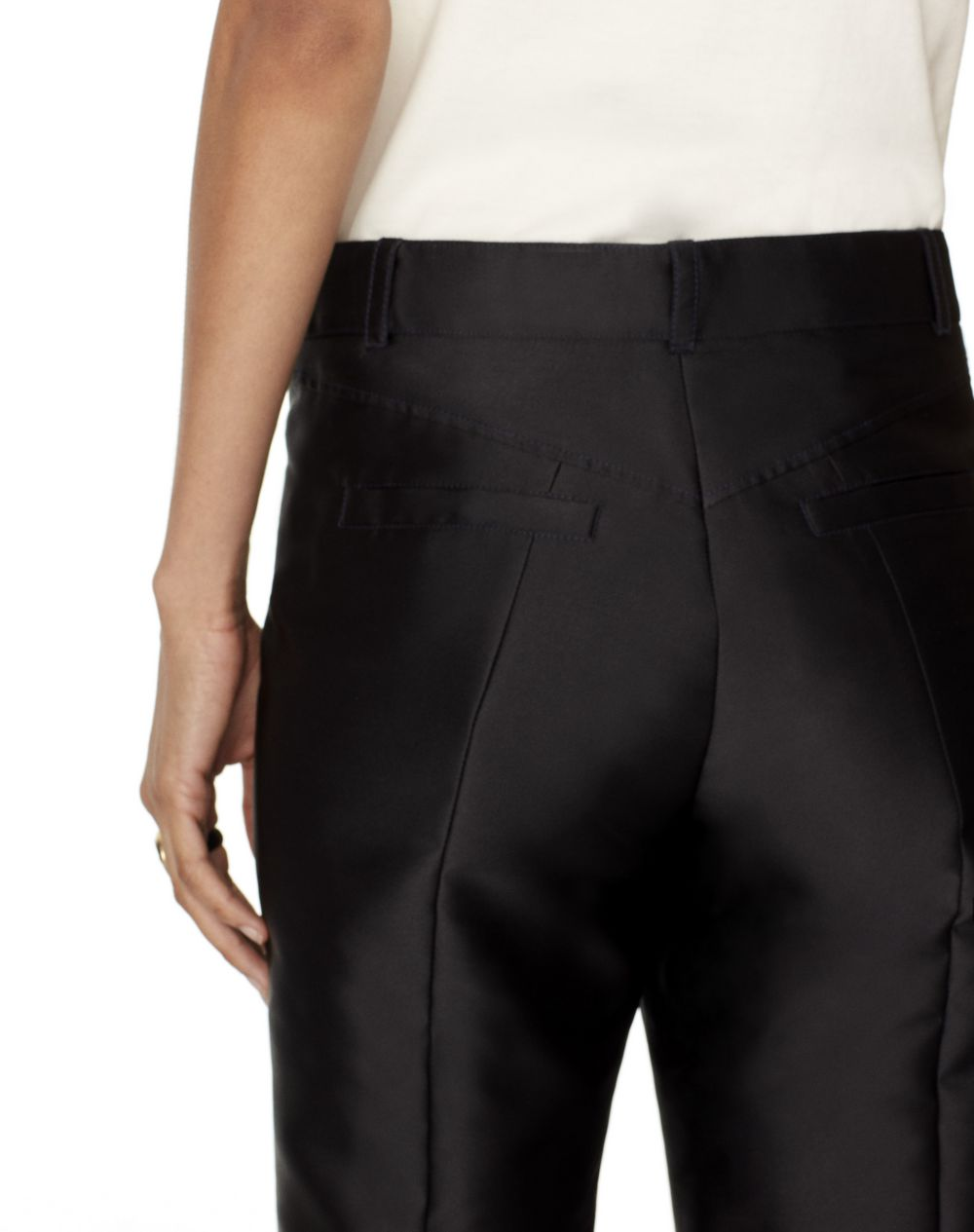 SATIN-EFFECT 7/8 TAILORED PANTS - Lanvin