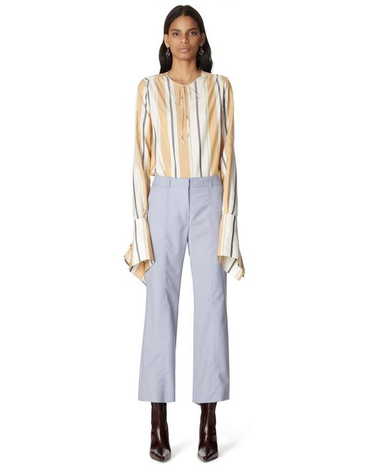 SATIN EFFECT TAILORED PANTS - Lanvin
