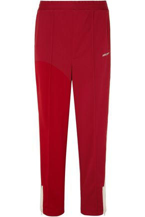 AMBUSH Striped satin-jersey track pants
