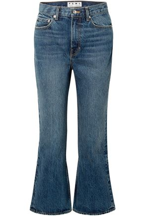 PROENZA SCHOULER PSWL PSWL cropped high-rise flared jeans