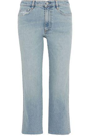 SIMON MILLER Distressed mid-rise straight-leg jeans