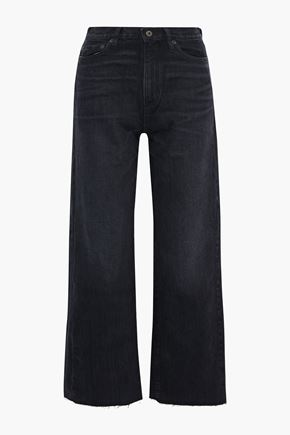 SIMON MILLER Bora distressed high-rise wide-leg jeans