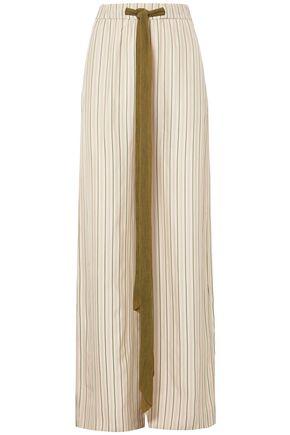 ESTEBAN CORTAZAR Barre Vistatin striped twill wide-leg pants