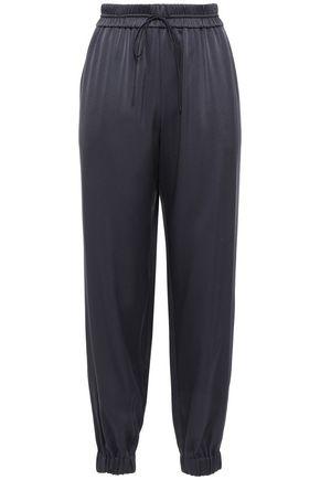 GREY JASON WU Silk crepe de chine track pants