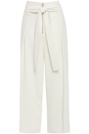 PROENZA SCHOULER Cropped textured crepe wide-leg pants