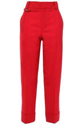 PROENZA SCHOULER Cropped wool-blend twill tapered pants