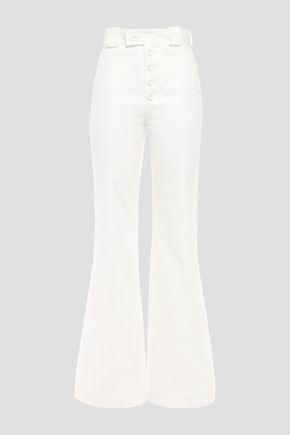 PROENZA SCHOULER Cotton-twill flared pants