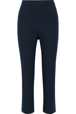 ELIE TAHARI Jessalyn cropped stretch-cotton twill slim-leg pants