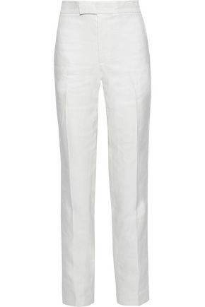 HELMUT LANG Hemp and cotton-blend straight-leg pants