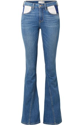 TRE by NATALIE RATABESI The Cher paneled mid-rise flared jeans