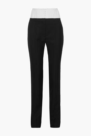 MUGLER Convertible wool slim-leg pants