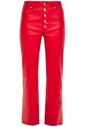 JOSEPH Den cropped stretch-leather slim-leg pants