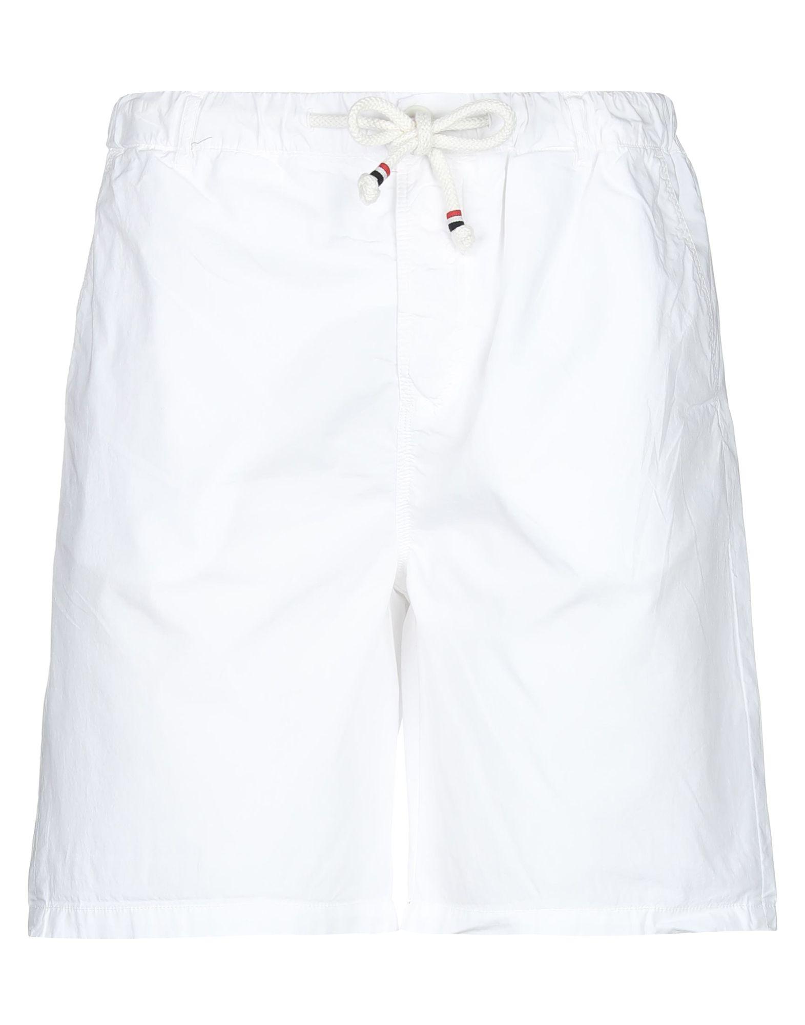 《セール開催中》BEAR メンズ バミューダパンツ ホワイト 52 コットン 100%