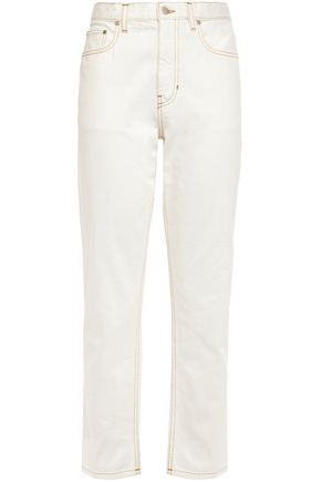 JOSEPH Cropped mid-rise straight-leg jeans