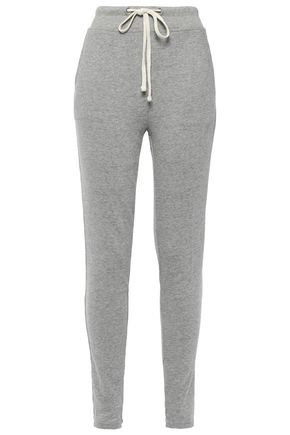 JAMES PERSE Mélange French cotton-terry track pants
