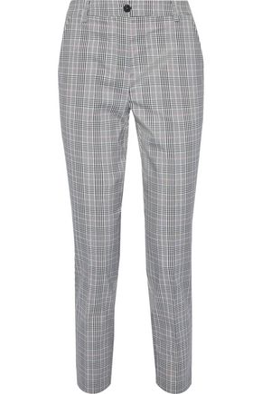 IRIS & INK Cherry checked woven straight-leg pants