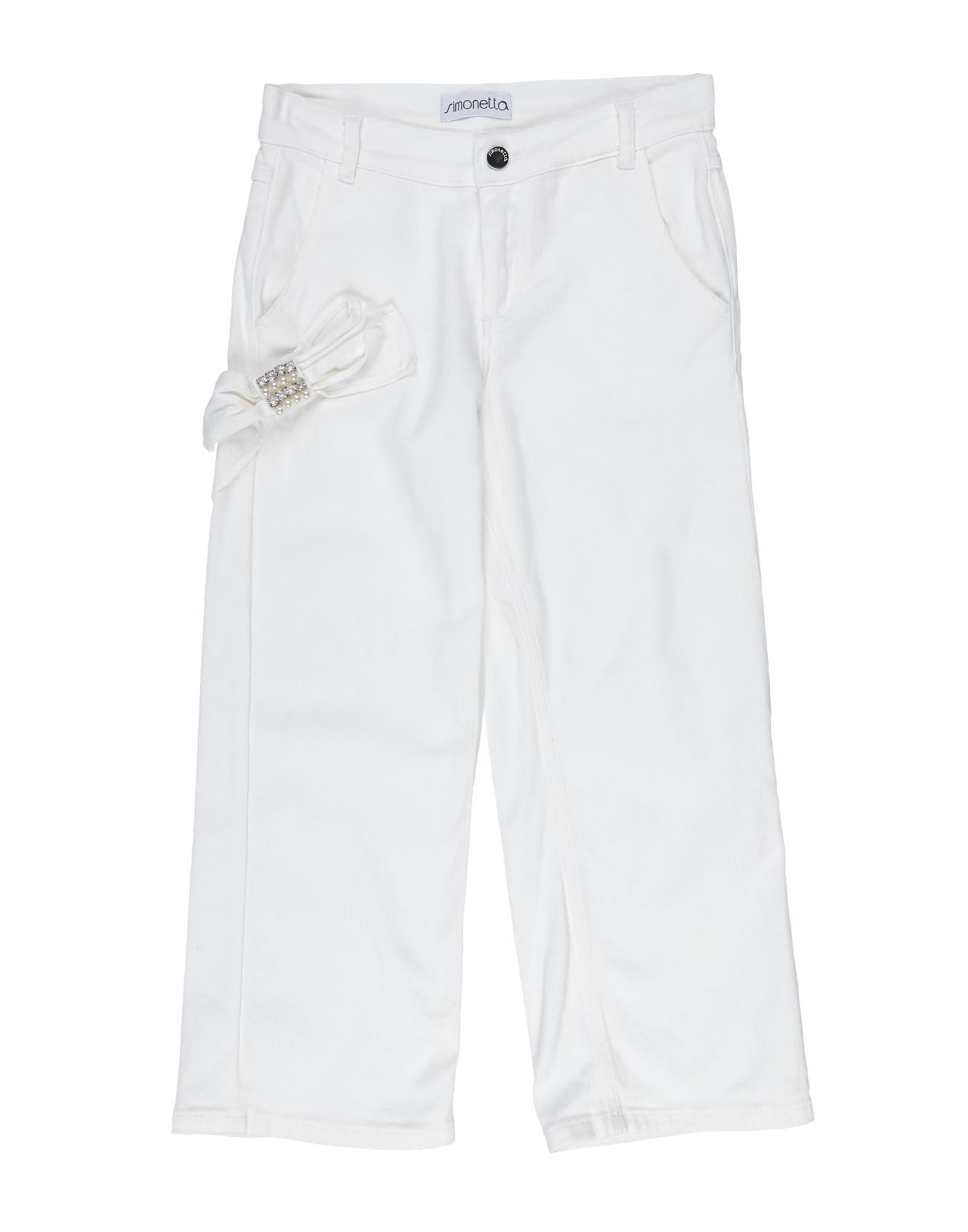 Simonetta Kids' Casual Pants In White