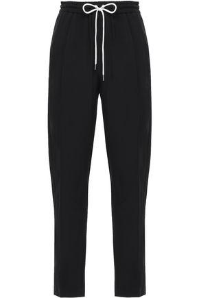 MARKUS LUPFER Cropped satin-crepe track pants