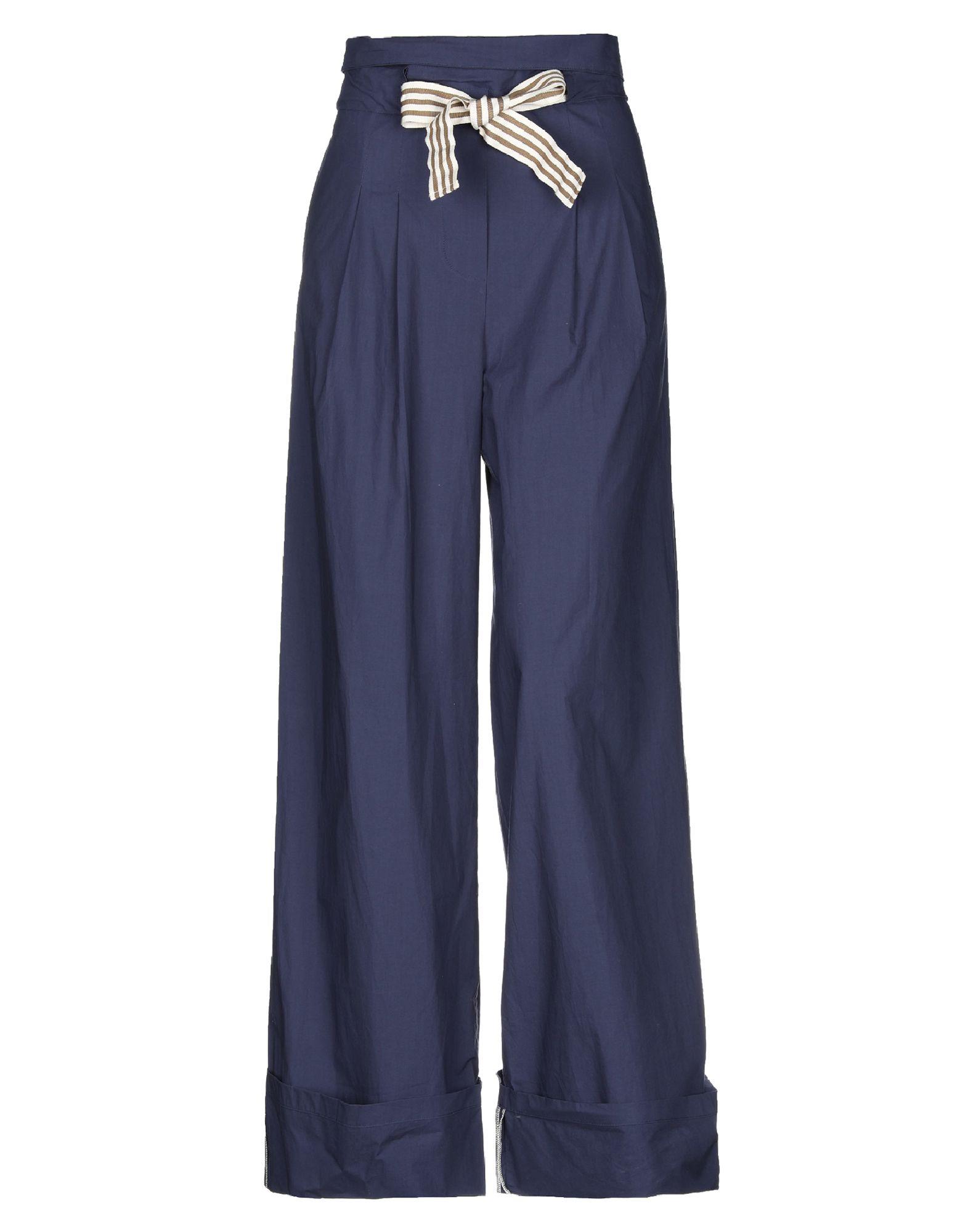 《セール開催中》SONIA DE NISCO レディース パンツ ブルー 42 コットン 100%