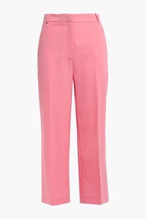 MARKUS LUPFER Marley cropped wool-blend twill wide-leg pants
