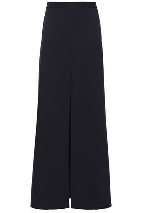 CHALAYAN Layered wool-twill wide-leg pants