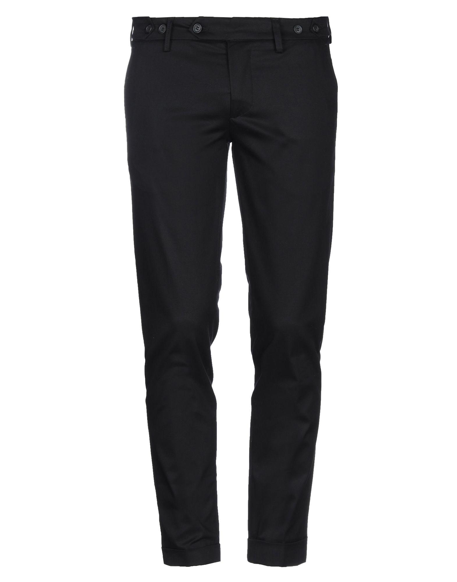 《セール開催中》DABOLEIS メンズ パンツ ブラック 34 コットン 98% / ポリウレタン 2%