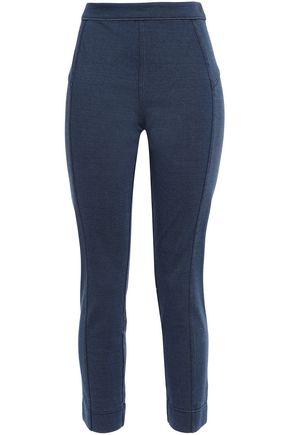 DIANE VON FURSTENBERG Portia mélange cotton-blend jersey slim-leg pants