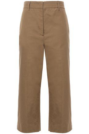 PRADA Cropped cotton wide-leg pants