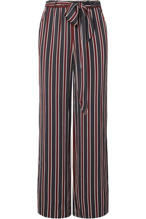 FRAME Easy striped charmeuse wide-leg pants