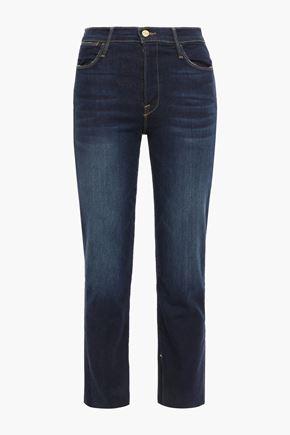 FRAME Fort Fellah cropped high-rise straight-leg jeans
