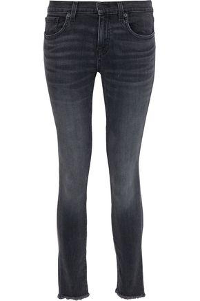 NILI LOTAN Frayed faded low-rise skinny jeans