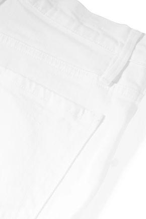 FRAME Cropped high-rise slim-leg jeans
