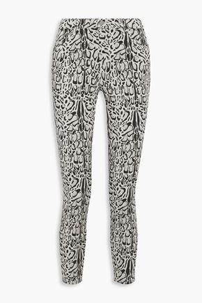 J BRAND Alana leopard-print mid-rise skinny-leg jeans