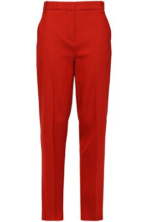 VICTORIA, VICTORIA BECKHAM Wool-blend crepe straight-leg pants