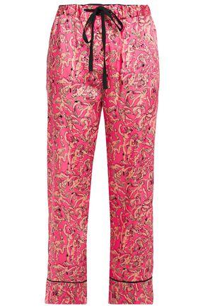 VICTORIA, VICTORIA BECKHAM Printed satin-twill straight-leg pants