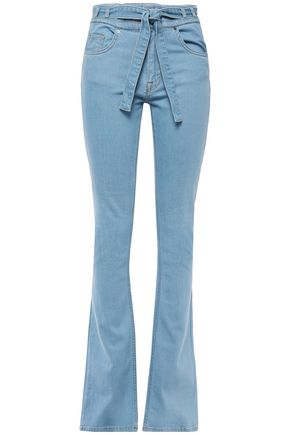 VICTORIA, VICTORIA BECKHAM Belted high-rise flared jeans