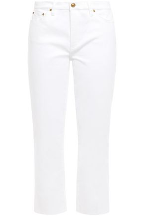 TORY BURCH Cropped mid-rise flared jeans