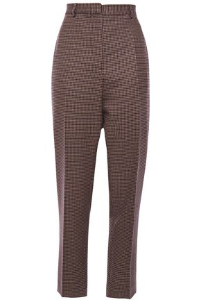 ROCHAS Houndstooth wool straight-leg pants