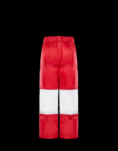 PADDED TROUSERS Red Trousers
