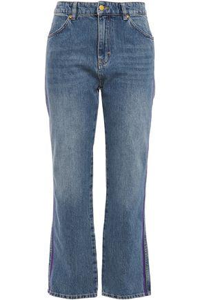 VICTORIA, VICTORIA BECKHAM Cropped high-rise straight-leg jeans