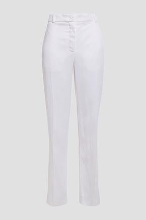 NINA RICCI Satin-crepe straight-leg pants