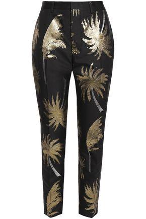 MSGM Metallic jacquard tapered pants