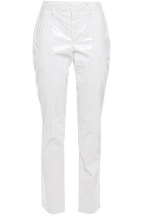 MSGM Vinyl slim-leg pants