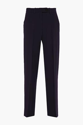 VICTORIA, VICTORIA BECKHAM Crystal-embellished satin-crepe wide-leg pants