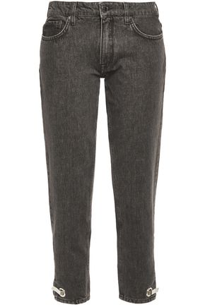VICTORIA, VICTORIA BECKHAM Embellished low-rise straight-leg jeans