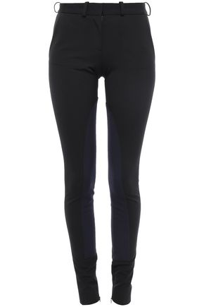 VICTORIA BECKHAM Two-tone stretch-crepe skinny pants