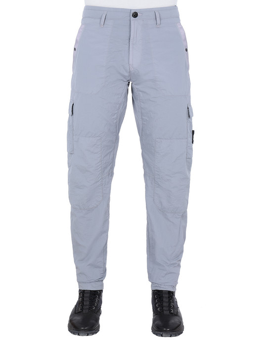 STONE ISLAND 32029 S.I.PA/PL SEERSUCKER-TC  Pants Man Dust Gray