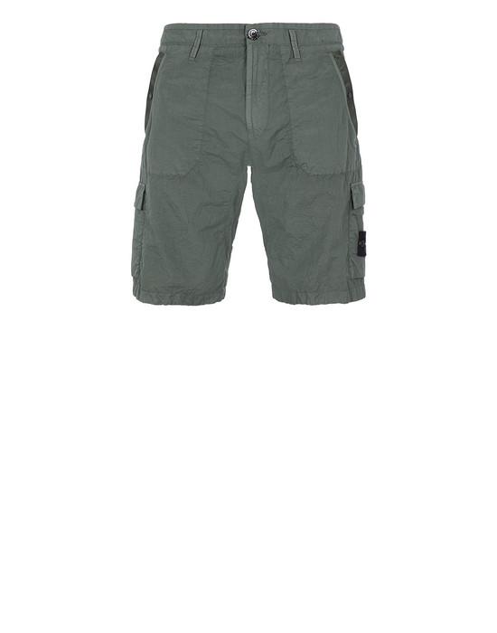 Bermuda shorts Man L1029 S.I.PA/PL SEERSUCKER-TC Front STONE ISLAND
