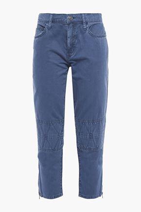 CURRENT/ELLIOTT The Debbie cropped cotton-twill slim-leg pants